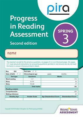 PIRA Test 3, Spring by Colin McCarty, Kate Ruttle