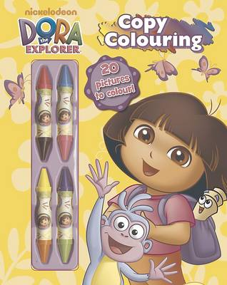 Dora the Explorer Copy Colouring by