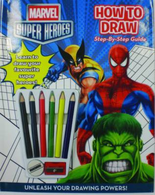 Marvel Super Heroes How to Draw Activity by