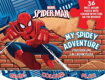 Marvel Spider-Man My Spidey Adventure Storybook and 2-in-1 Jigsaw Puzzle by