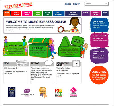 Music Express Online Institutional Subscription by