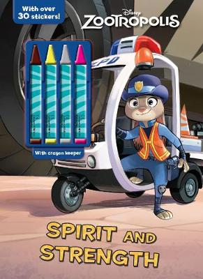 Disney Zootropolis Spirit and Strength Plus 4 Crayons by