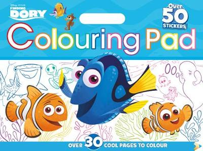 Disney Pixar Finding Dory Colouring Floor Pad Over 30 Cool Pages to Colour by Parragon Books Ltd