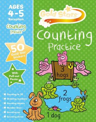 Gold Stars Counting Practice Ages 4-5 Reception by Nina Filipek, Geraldine Taylor