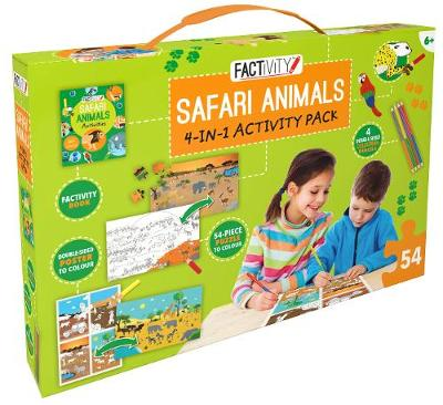 Factivity Safari Animals 4-in-1 Activity Pack by