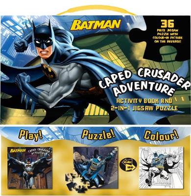 Batman Caped Crusader Adventure Activity Book and 2-in-1 Jigsaw Puzzle by