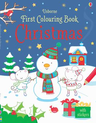First Colouring Book Christmas by Rachel Wells