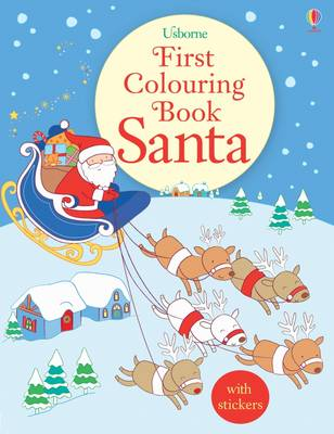 First Colouring Book Santa by Jessica Greenwell