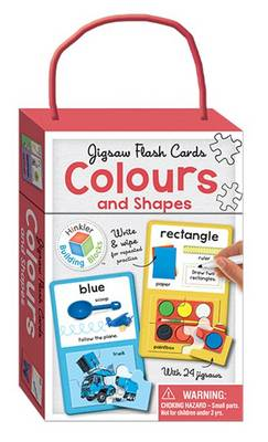 Colours & Shapes Building Blocks - Jigsaw Flash Cards by