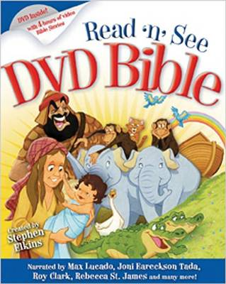 Read-N-See DVD Bible Narrated by: Max Lucado, Joni Erickson Tada, Twila Paris, Rebecca St. James, Roy Clark & Others by Stephen Elkins