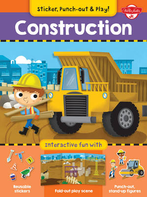Construction Interactive Fun with Fold-Out Play Scene, Reusable Stickers, and Punch-Out, Stand-Up Figures! by Walter Foster Jr. Creative Team