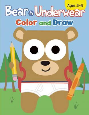 Bear in Underwear Color and Draw by Todd Goldman