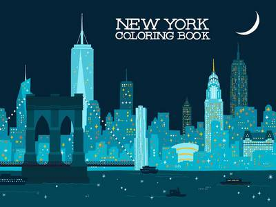 New York Coloring Book by Min Heo