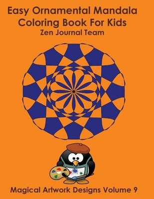 Easy Ornamental Mandala Coloring Book for Kids by Journal Team