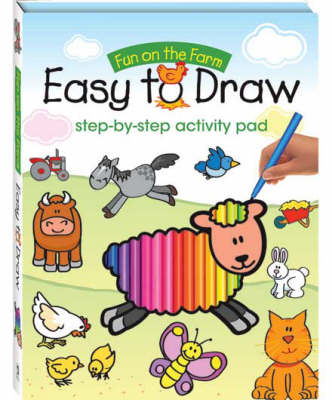 Fun on the Farm Easy to Draw Step-by-step Activity Pad by
