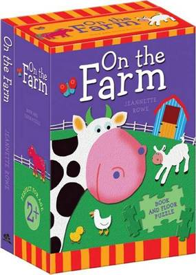 On The Farm Book And Floor Puzzle by Jeannette Rowe