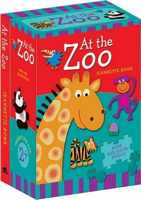 At The Zoo Book And Floor Puzzle by Jeannette Rowe