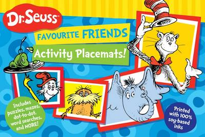 Dr Seuss Favourite Friends Activity Placemat by