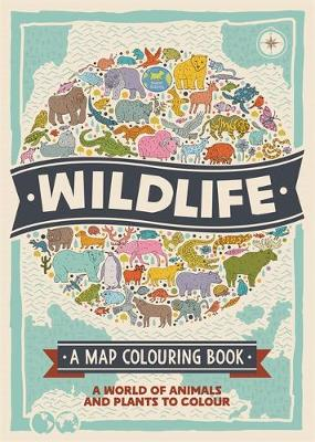 The Wildlife A Map Colouring Book by Natalie Hughes
