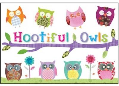 Hootiful Owls Stationery Box by Clare Fennell