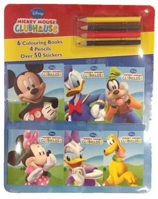 Disney Mickey Mouse Clubhouse Mini Colouring Books & Pencil Set by