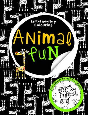 Lift the Flap Animal Fun Big Busy Colouring by Make Believe Ideas