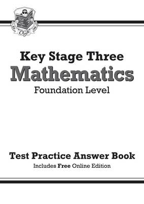 KS3 Maths Answers for Test Practice Workbook (with Online Edition) - Foundation by CGP Books