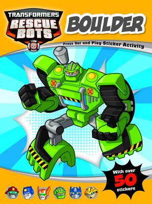 Boulder (Green) Rescuebots Press-Out and Play Sticker Activity by