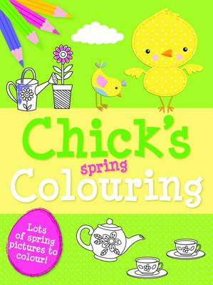 Spring Colouring Chick by