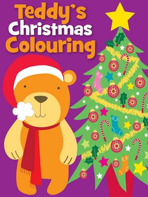 Christmas Colouring Teddy by