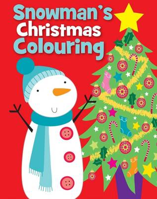 Christmas Colouring Snowman by
