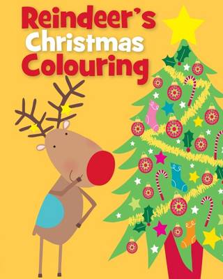 Christmas Colouring Rudolph by