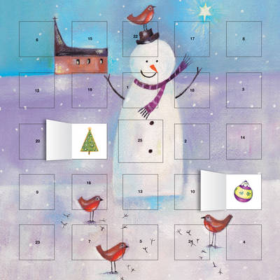 Snowman and Robin Advent Calendar (with Stickers) by