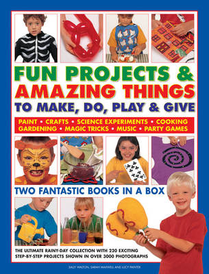 Fun Projects & Amazing Things to Make, Do, Play & Give Two Fantastic Books in a Box: the Ultimate Rainy-day Collection with 220 Exciting Step-by-step Projects Shown in Over 3000 Photographs by Sally Walton, Sarah Maxwell, Lucy Painter