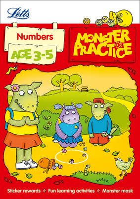Letts Monster Practice Numbers Age 3-5 by Carol Medcalf, Becky Hempstock, Letts Monster Practice