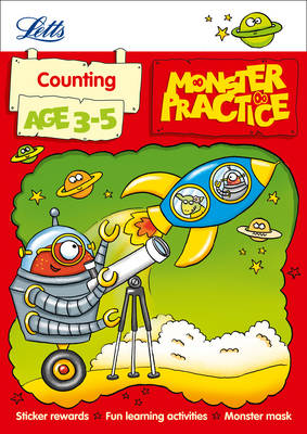 Letts Monster Practice Counting Age 3-5 by Carol Medcalf, Becky Hempstock, Letts Monster Practice