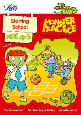 Letts Monster Practice Starting School Age 4-5 by Carol Medcalf, Becky Hempstock, Letts Monster Practice