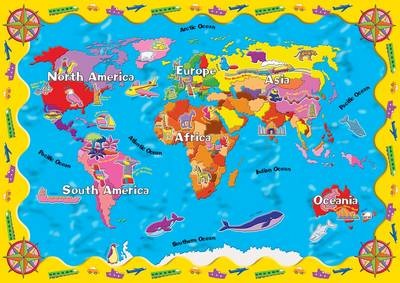 World Map Desk Protector by