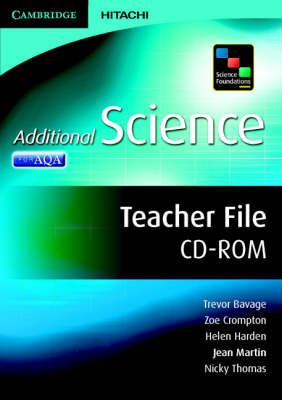 Science Foundations Additional Science Teacher File CD-ROM by Jean Martin, Trevor Bavage, Zoe Crompton, Helen Harden