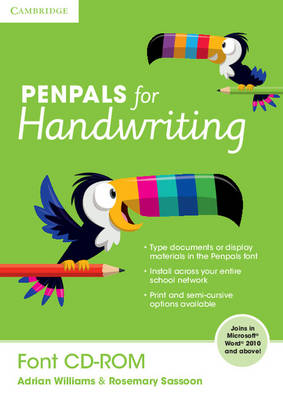 Penpals for Handwriting Font CD-ROM by Adrian Williams, Rosemary Sassoon