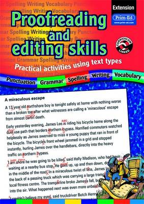 Proofreading and Editing Skills Practical Activities Using Text Types by