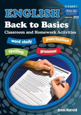 English Homework Back to Basics Activities for Class and Home by Jenni Harrold