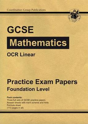 GCSE Maths OCR Linear Practice Papers - Foundation by CGP Books