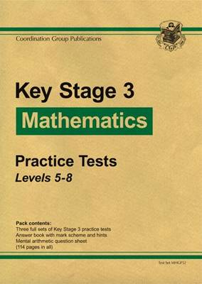 KS3 Maths Green Practice Tests - Levels 5-8 by CGP Books
