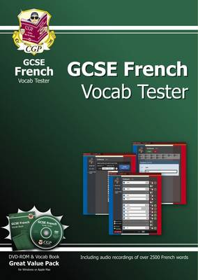 GCSE French Interactive Vocab Tester - DVD-ROM and Vocab Book (A*-G Course) by CGP Books