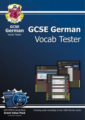 GCSE German Interactive Vocab Tester - DVD-ROM and Vocab Book (A*-G Course) by CGP Books