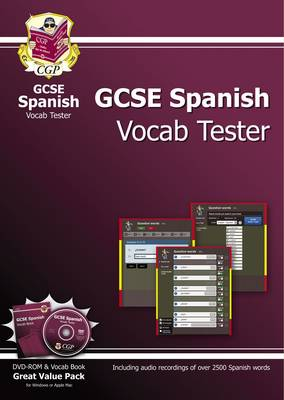GCSE Spanish Interactive Vocab Tester - DVD-ROM and Vocab Book (A*-G Course) by CGP Books