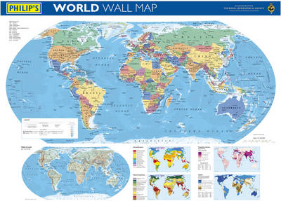 Philip's World Wall Map by Philip's