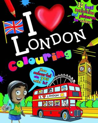 I Love London Colouring by
