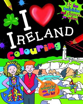 I Love Ireland Colouring by